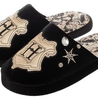 Harry Potter Themed Unisex Women Mens Slip-On Slippers Footwear With Embroidered Designs
