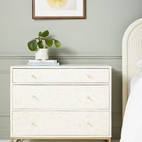 Star Inlay Three-Drawer Dresser