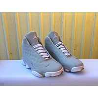 Nike Air Jordan Retro 13 Gray White Men Basketball Sneaker Sport Shoes