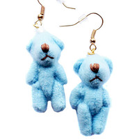 Teddy Bear Dangle Earrings