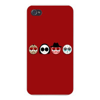 Apple Iphone Custom Case 4 4s Plastic Snap on - Horror Movie Character w/Heads & Eyes