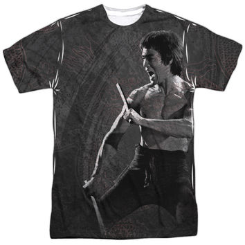 BRUCE LEE DRAGON PRINT OFFICIAL LICENSED 3D TEE T-SHIRT