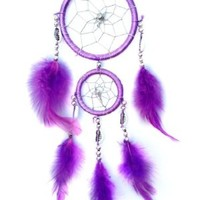 Purple Dream Catcher Wall or Car Hanging Ornament ( with a Betterdecor Gift Bag)-2r