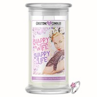 Happy Wife, Happy Life! Jewelry Greeting Candle
