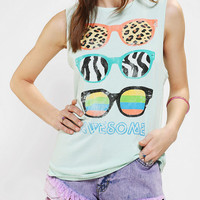 LIFE Awesome Sunglasses Muscle Tee