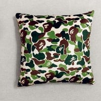 Bape Pillow Case Camo Art Cushion Cover A Bathing Ape Throw Pillows Cases Gifts Sofa Car Seat Cushions Cover Print 45CM X45CM