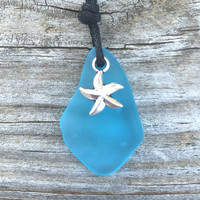 Dainty Caribbean Blue Glass Starfish Necklace by Wave of Life™