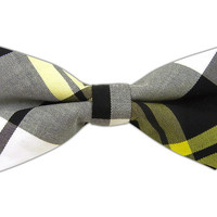 Mullin Madras - Yellow (Cotton Bow Ties) from TheTieBar.com - Wear Your Good Tie Everyday