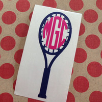 Tennis Racquet With Personalized Monogram | Sports | Preppy | Custom | Personalized | Preppy Tennis Racquet | Tennis Monograms |