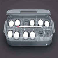 Plastic 12 Holes Reptile Egg Incubation Tray With Thermometer Incubating Gecko Lizard Snake Eggs Incubation Tool