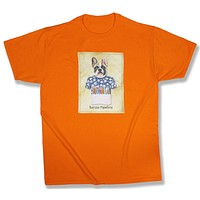 Hurley: French Bulldog in a Surfing Shirt, Tennessee Orange