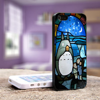 Totoro Stained Glass - iPhone 4, 5, 5S 5C, Samsung Galaxy S3,S3 mini, S4, S4 mini and iPod 4, 5 Case