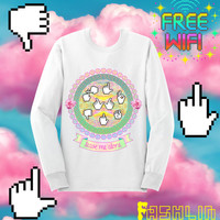 Leave Me Alone INSULT Mouse Pointers Sweatshirt in White // Pastel Grunge // Pastel Goth // fASHLIN