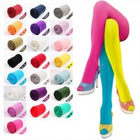 120D Women Tights Velvet Candy Color High Quality Stockings Winter Autumn Fitness Pantyhose Free Shipping