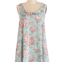 ModCloth Eco-Friendly Long Sleeveless Flowers for You Tunic