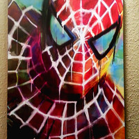 """Spiderman Art Panel; Archival Quality 11""""x17"""" Art Print, mounted on board  **EXPRESS SHIPPING AVAILABLE**"""