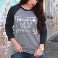 Fall in the South Raglan {Charcoal}