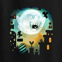 Super Mario NES SNES Ghost mansion color tee t-shirt 80's