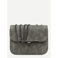 Twist Lock Chain Bag GREY
