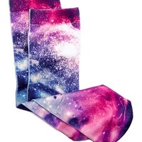PHOTO PRINT GALAXY SOCKS