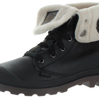 Palladium Baggy Leather Womens Wool Lined Combat Boots
