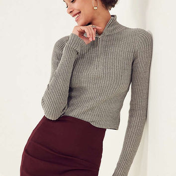 Silence + Noise Christy Turtleneck Half-Zip Sweater | Urban Outfitters