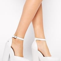 Windsor Smith Pow White Ankle Strap Heeled Shoes