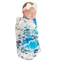 Baby Girl Floral Swaddle Blanket
