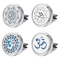 Yoga Stainless Steel Locket Car Clips Accessories