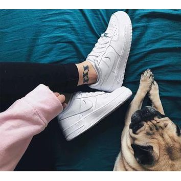 AIR FORCE 1 NIKE  classic men's and women's fashion casual sports shoes