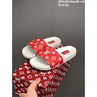 LV Louis Vuitton Women Fashion Leather High Low Sandals