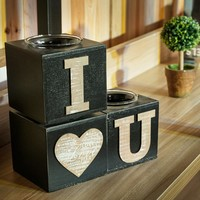 Home Decor Decoration Vintage Heart Candle Stand [6282968518]