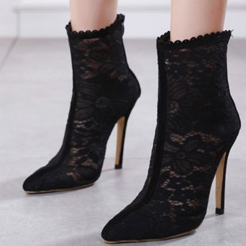 The new line is a hot seller of lace sexy joker heels cool boots