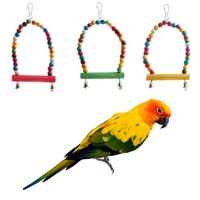 1pc Colorful Swing Bird Parrot Rope Harness Hammock Hanging Toys Parakeet Cockatiel -Y102
