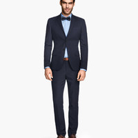 Textured-weave Suit Pants - from H&M