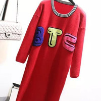 Red BTC Retro Lond Knitted Dress