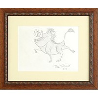 Pumba - Original Pencil Sketch on Paper by Rick Farmiloe