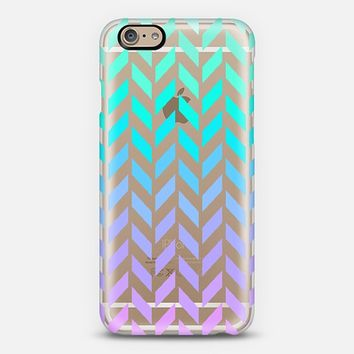 Pastel Ombre Herringbone Transparent iPhone 6 case by Organic Saturation   Casetify
