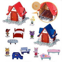 Takara Tomy Animal Crossing New Leaf Gashapon House & Furniture 5 Trading Figure Set