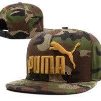 Camouflage PUMA Embroidered Hip Hop Adjustable Snapback Outdoor Baseball Cap Hats