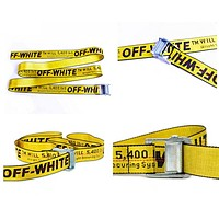 OFF WHITE New Fashion More Letter Print Couple Personality Belt