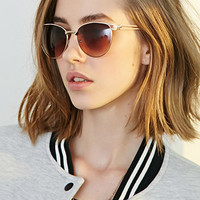 Lacquered Metal Frame Sunglasses