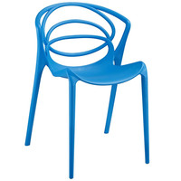 Blue Locus Dining Side Chair