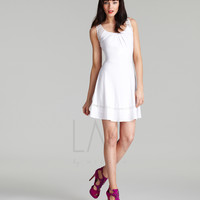 LM Collection 2013 Fall Dresses - White Short Summer Dress