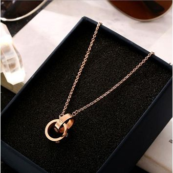 Cartier Women Fashion Plated Necklace Jewelry