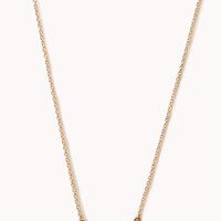 FOREVER 21 Flower Child Bow Necklace Gold/Black One