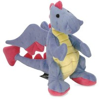goDog Baby Dragon Large Plush Dog Toy Periwinkle