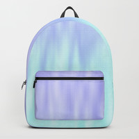 Ice blue abstract design Backpack by edrawings38