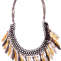 Tribal Necklace- Black/Gold/Silver