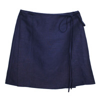 SIDE PARTY | Wrap Skirt - Navy